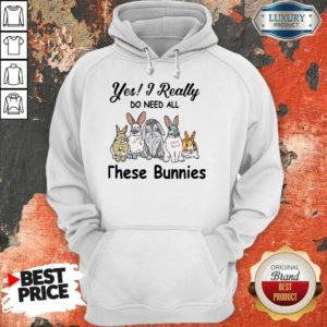 Nice Yes I Really Do Need All These Bunnies HoodieNice Yes I Really Do Need All These Bunnies Hoodie