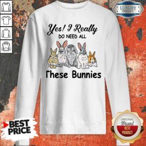 Nice Yes I Really Do Need All These Bunnies SweatshirtNice Yes I Really Do Need All These Bunnies Sweatshirt