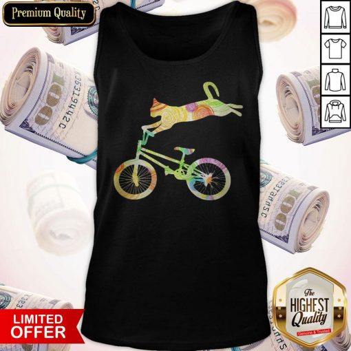 Official Cat Bicycle Motocross Tank top