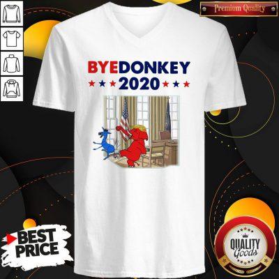 Official Elephant Trump Bye Donkey 2020 V-neck