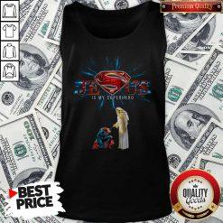 Official Jesus Is My Superhero Tank top
