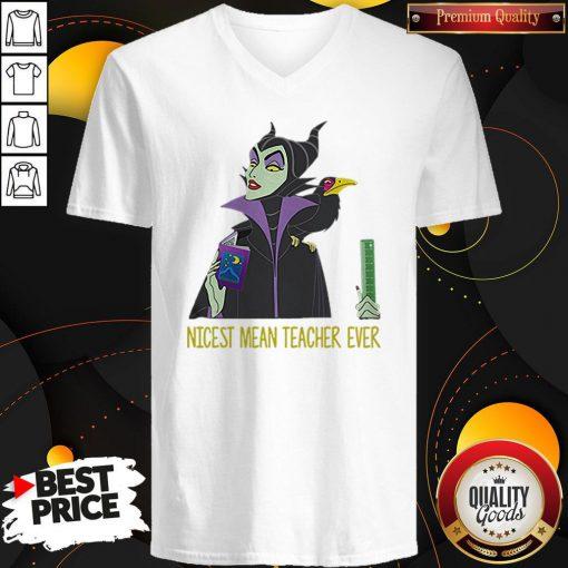 Official Maleficent Nicest Mean Teacher Ever V-neck