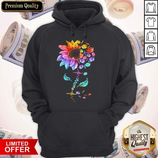Official Nurse Colorful Sunflower Hoodie