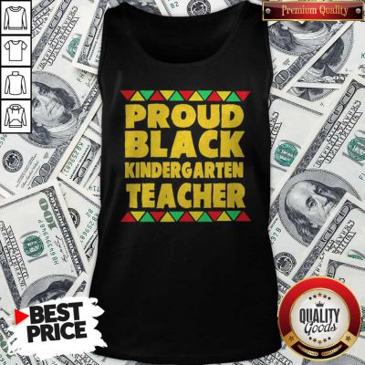 Official Proud Black Kinder Garten Teacher Tank Top