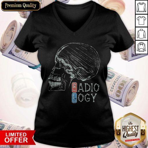 Official Radiology Skull V-neck