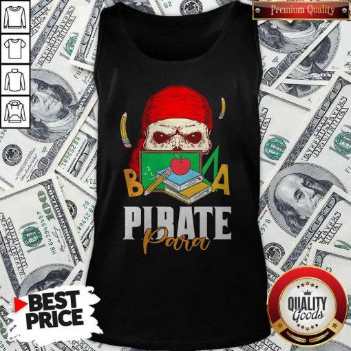 Official Skull Book Pirate Para Tank-top