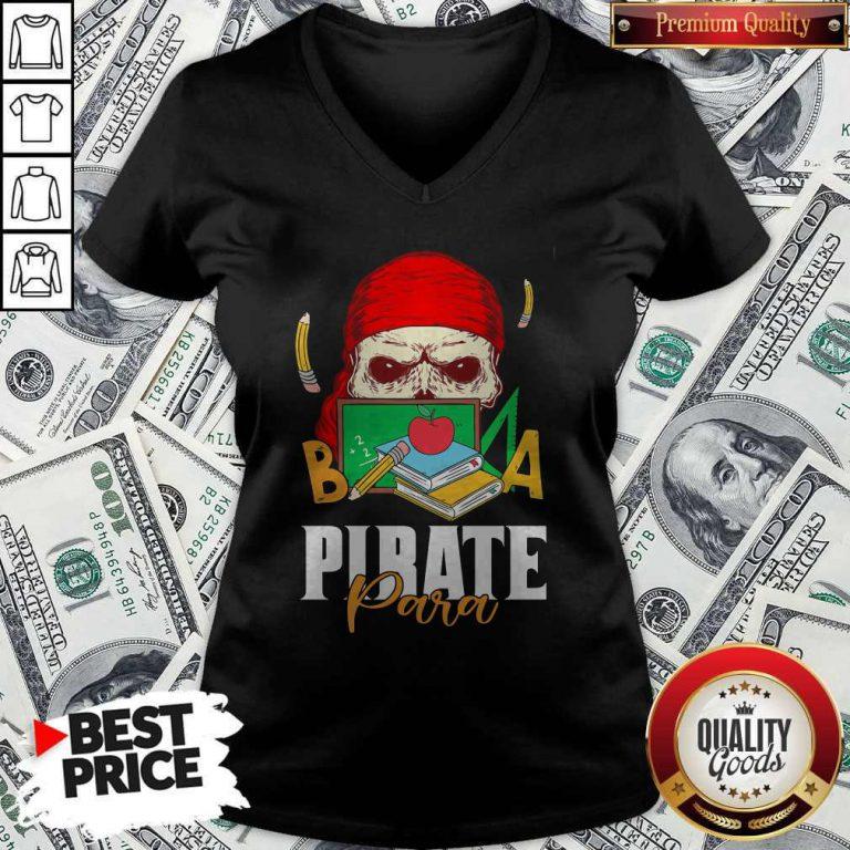 Official Skull Book Pirate Para V-neck