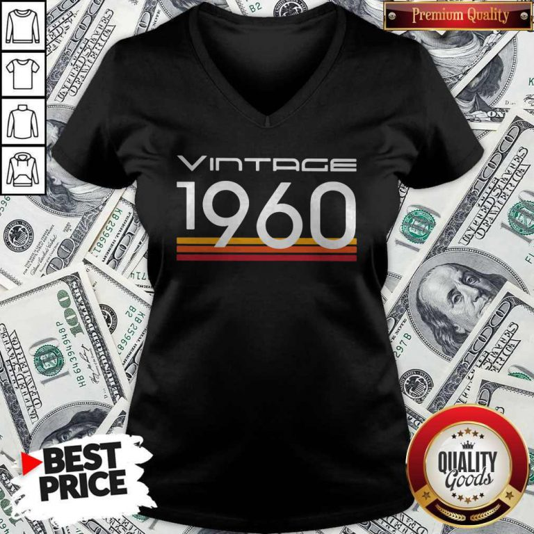 Official Vintage 1960 Vintage Retro V-neck