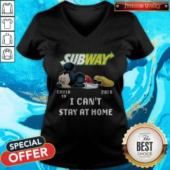Subway Mickey Mouse Covid 19 2020 I Can'T Stay At Home V-neck