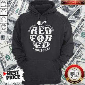 Support Teachers Apple Red For Ed Arizona Hoodie