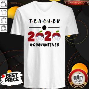 Teacher 2020 Quarantined Friends Version V-neck
