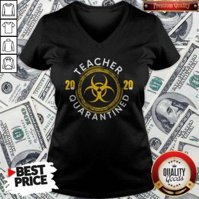 Teacher 2020 Quarantined Social Distancing V-neck