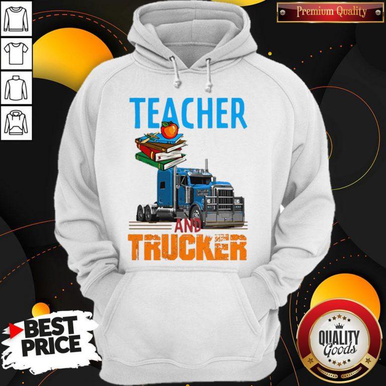 Teacher And Trucker Book Apple Hoodie