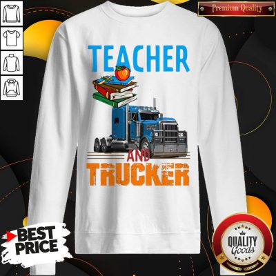 Teacher And Trucker Book Apple Sweatshirt