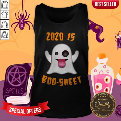 2020 Is Boo-sheet Boo Ghost Quote Halloween Day 2020 Tank Top