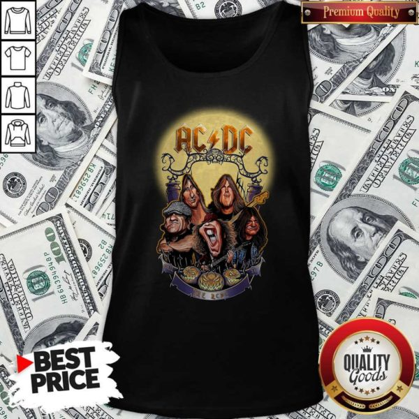 AC DC Heavy Metal Music Band Band Hail The AC DC To Halloween Tank Top