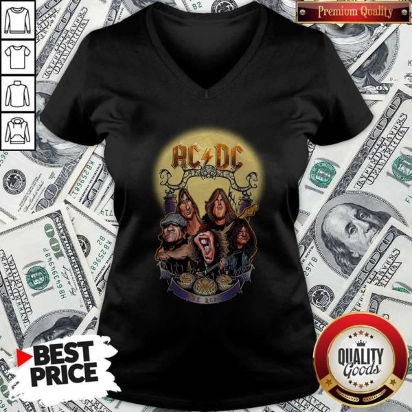 AC DC Heavy Metal Music Band Band Hail The AC DC To Halloween V-neck