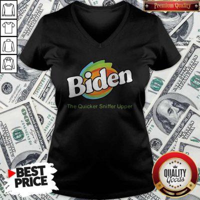 Biden The Quicker Sniffer Upper V-neck