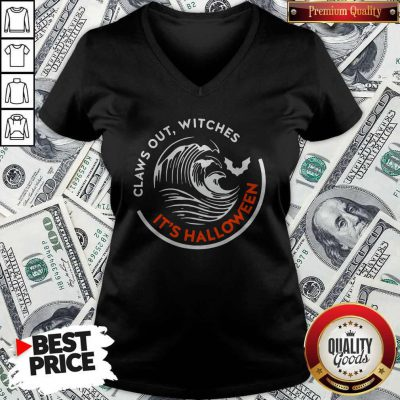 Claws Out Witches It's Halloween V-neck