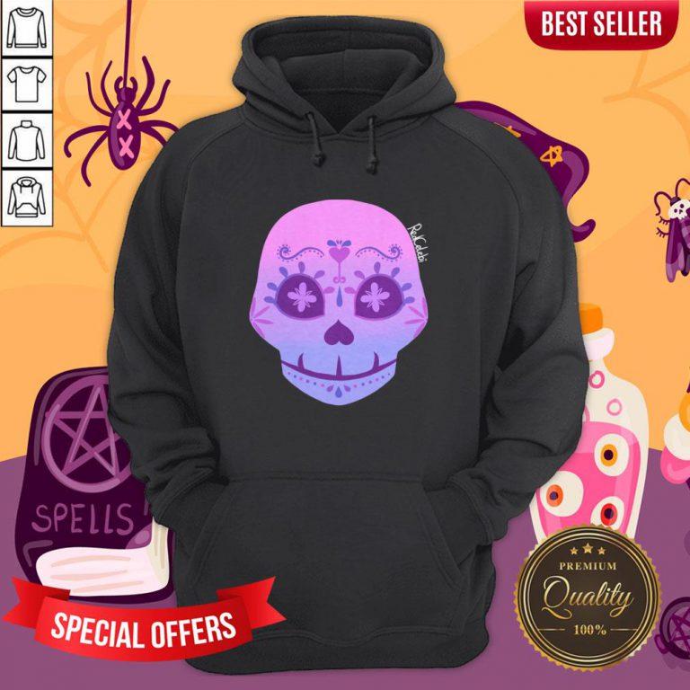 Cute Bi Sugar Skull Day Of The Dead Dia De Muertos HoodieCute Bi Sugar Skull Day Of The Dead Dia De Muertos Hoodie