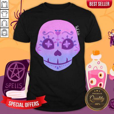 Cute Bi Sugar Skull Day Of The Dead Dia De Muertos Shirt