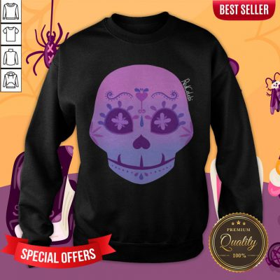 Cute Bi Sugar Skull Day Of The Dead Dia De Muertos Sweatshirt