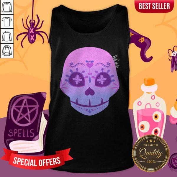 Cute Bi Sugar Skull Day Of The Dead Dia De Muertos Tank Top