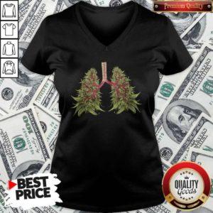 Cute Cannabis Lungs V-neck