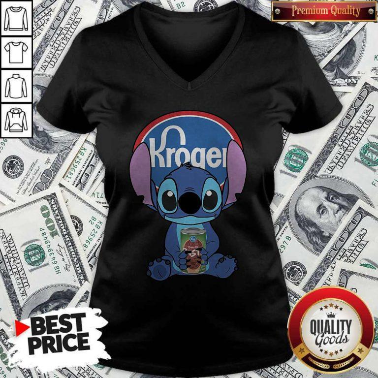 Cute Stitch Hug Kroger V-neck