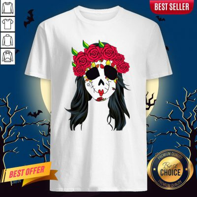 Day Of Dead Mask Lady Skull HaDay Of Dead Mask Lady Skull Halloween Muertos Shirtlloween Muertos Shirt