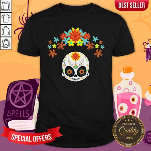 Day Of The Dead Cute Sugar Skull Shirt