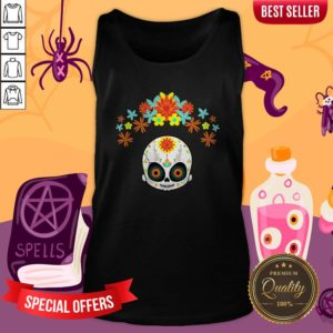 Day Of The Dead Cute Sugar Skull Tank Top