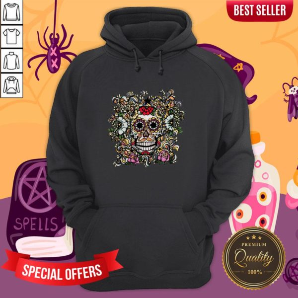 Day Of The Dead Muertos Sugar Skull Vintage Hoodie