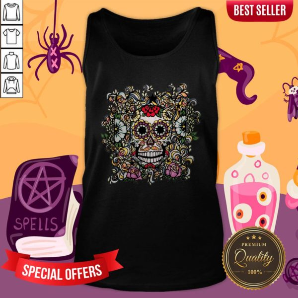 Day Of The Dead Muertos Sugar Skull Vintage Tank Top