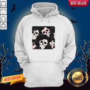 Day Of The Dead Sugar Skulls Halloween Skull Black Roses Muertos Hoodie