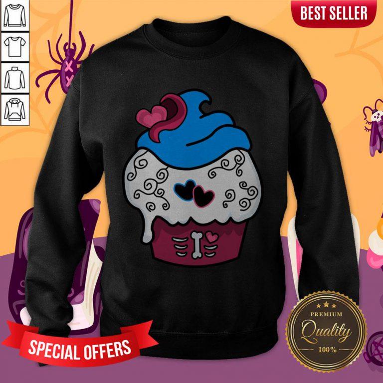 Delicious Cupcake Dia De Los Muertos Day Of Dead Sweatshirt