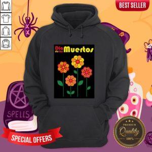 Dia De Los Muertos Skull Flowers Hoodie