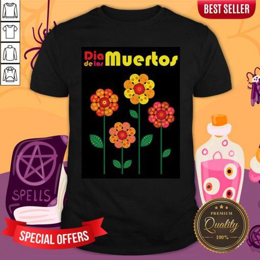 Dia De Los Muertos Skull Flowers Shirt