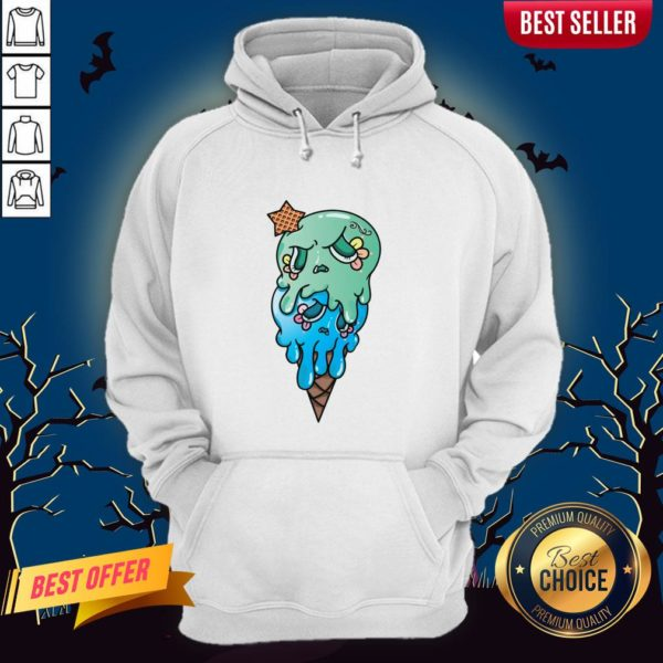 Double Scoop Sugar Skull Ice Cream Day Of The Dead Hoodie