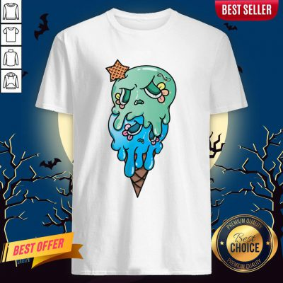Double Scoop Sugar Skull Ice Cream Day Of The Dead Shirt