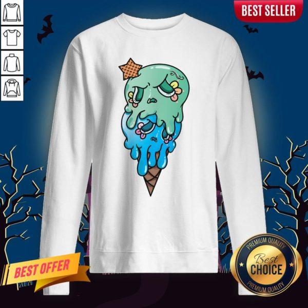 Double Scoop Sugar Skull Ice Cream Day Of The Dead Sweatshirt