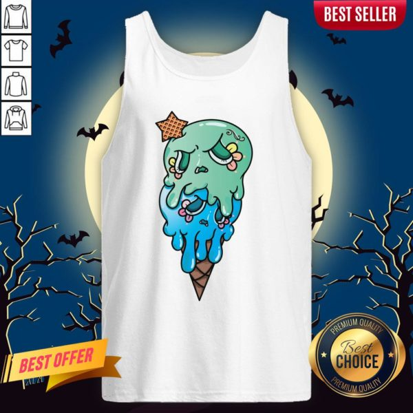 Double Scoop Sugar Skull Ice Cream Day Of The Dead Tank Top