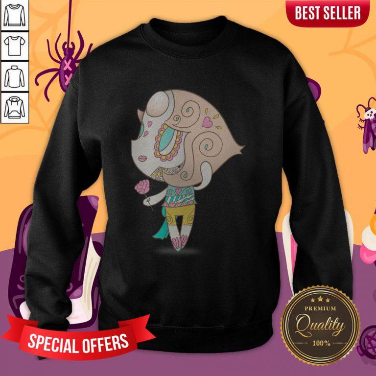 Elegant But Strong Muerto Sugar Skull Day Of The Dead Sweatshirt