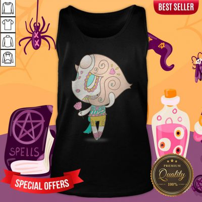 Elegant But Strong Muerto Sugar Skull Day Of The Dead Tank Top