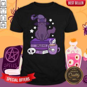 Feline Familiar Witch Cat Smile Halloween Day 2020 Shirt