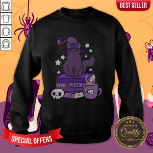 Feline Familiar Witch Cat Smile Halloween Day 2020 Sweatshirt
