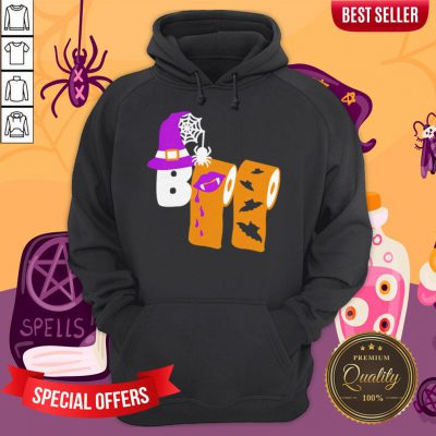 Funny Boo Witch Toilet Halloween Hoodie