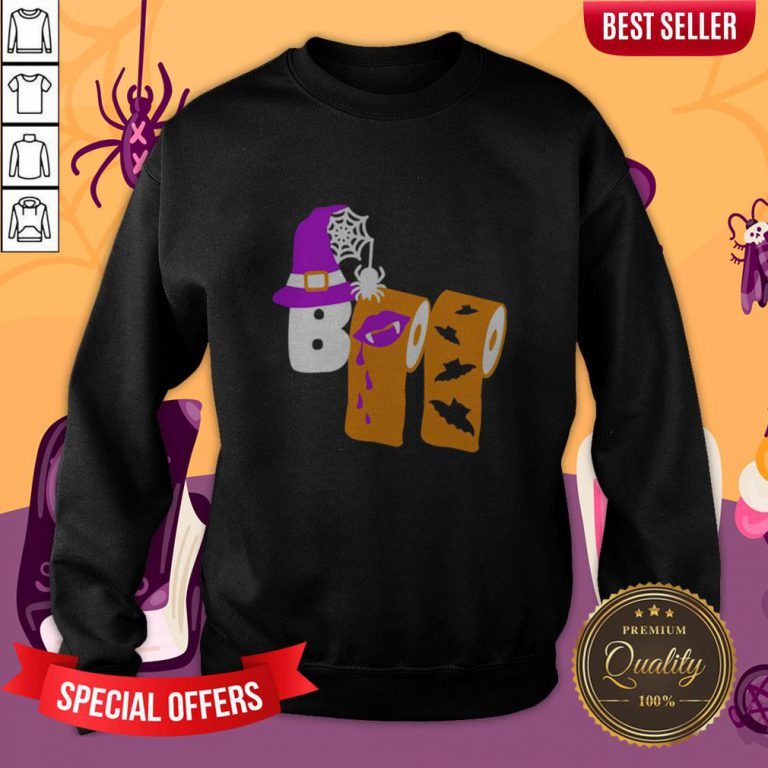 Funny Boo Witch Toilet Halloween Sweatshirt