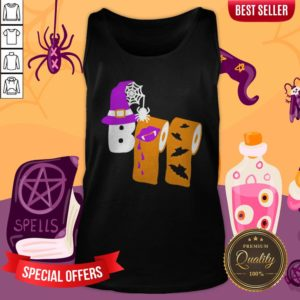 Funny Boo Witch Toilet Halloween Tank Top