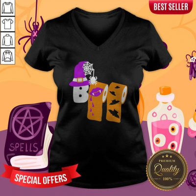 Funny Boo Witch Toilet Halloween V-neck